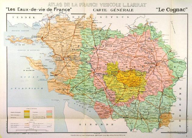 Cognac Region Of France Map.Decorative Antique Old Historic Prints Engravings Wine Maps Map