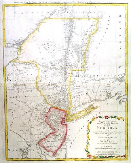 Map Of New Jersey New York. NEW YORK - NEW JERSEY: