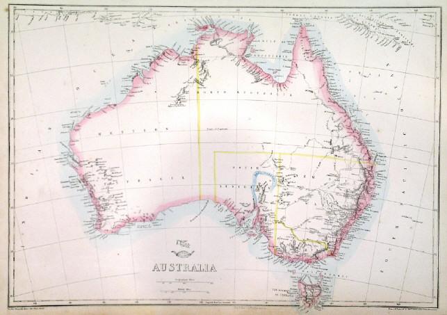 australia map 1851