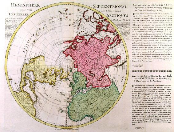 Antique historic old world maps map hemispheres arctic antarctic h29857npoleottensg 105008 bytes gumiabroncs Gallery